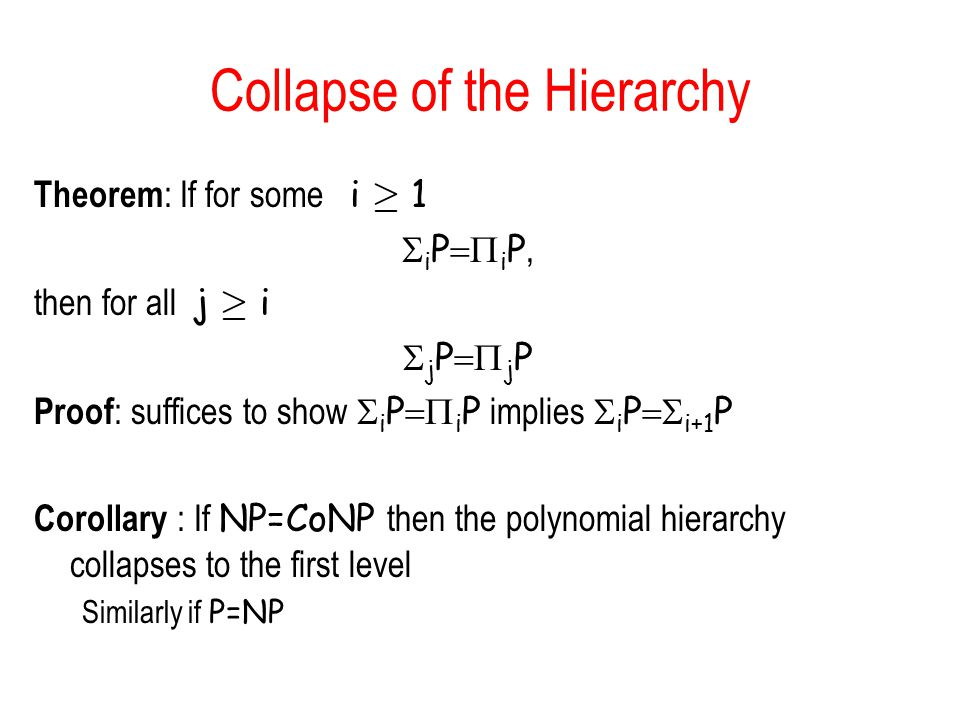 Collapse of the Hierarchy