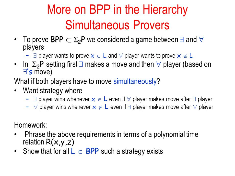 More on BPP in the Hierarchy Simultaneous Provers