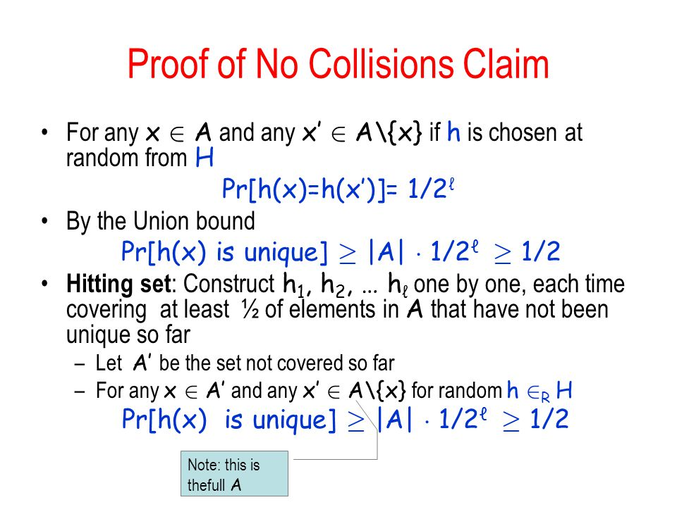 Proof of No Collisions Claim