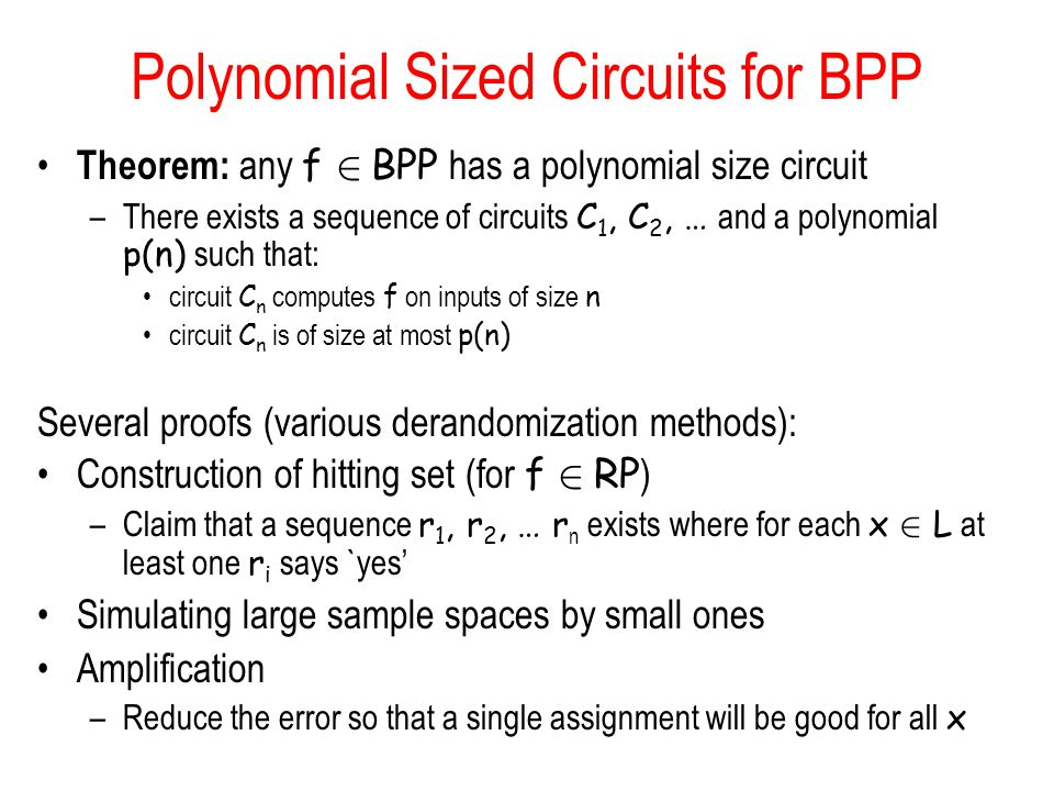 Polynomial Sized Circuits for BPP