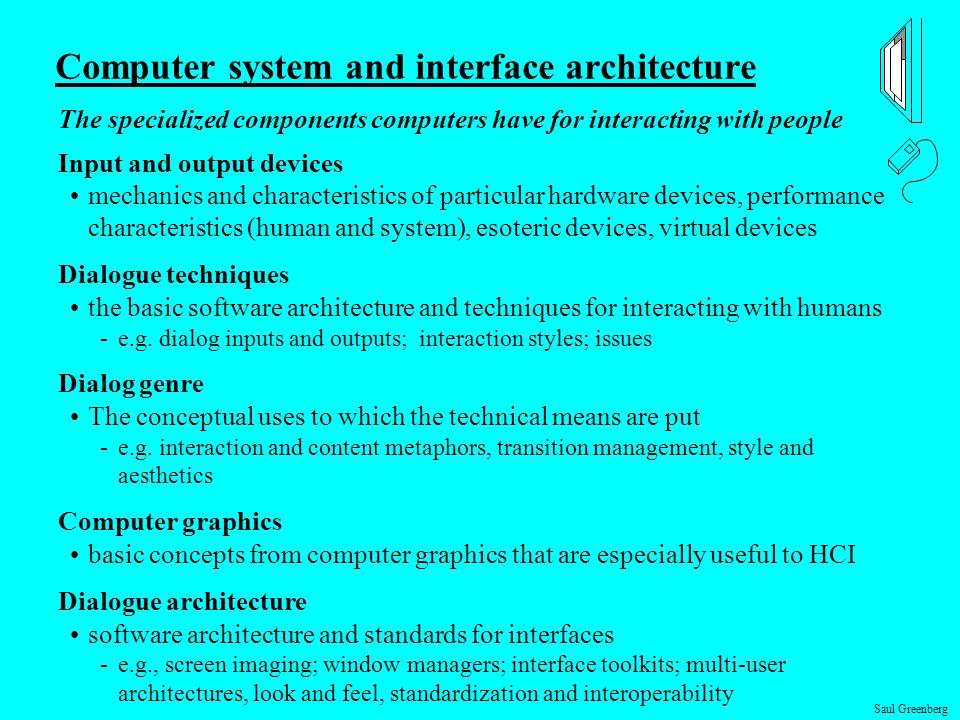 Computer system and interface architecture