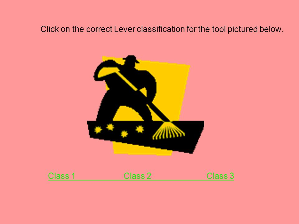 Click on the correct Lever classification for the tool pictured below.