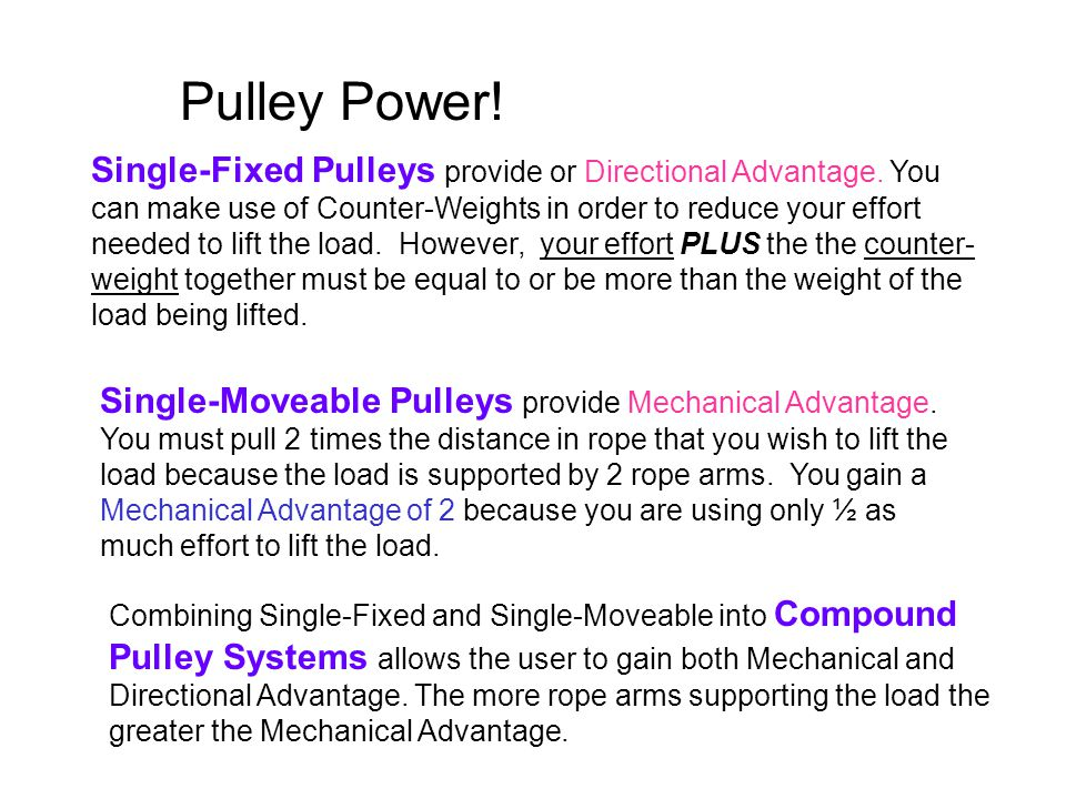 Pulley Power!