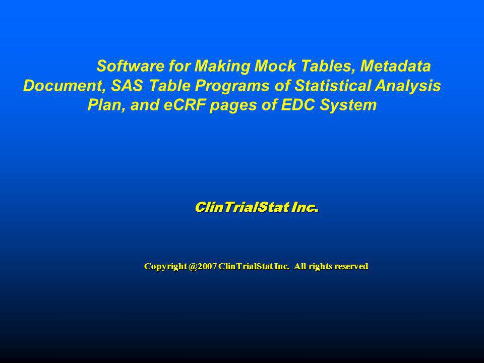 ClinTrialStat Inc. All rights reserved