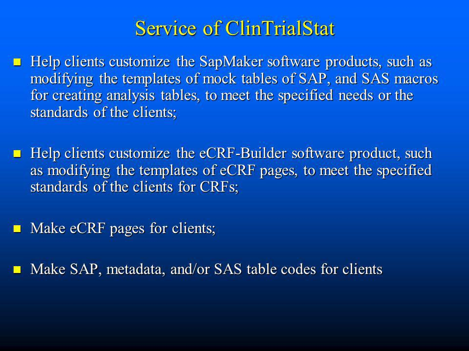 Service of ClinTrialStat