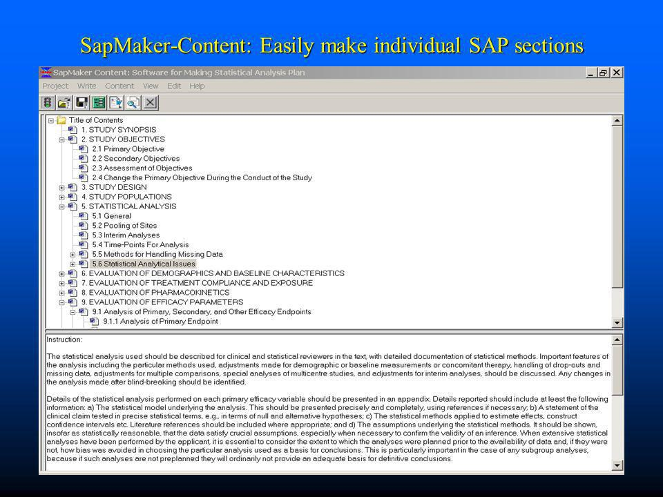 SapMaker-Content: Easily make individual SAP sections