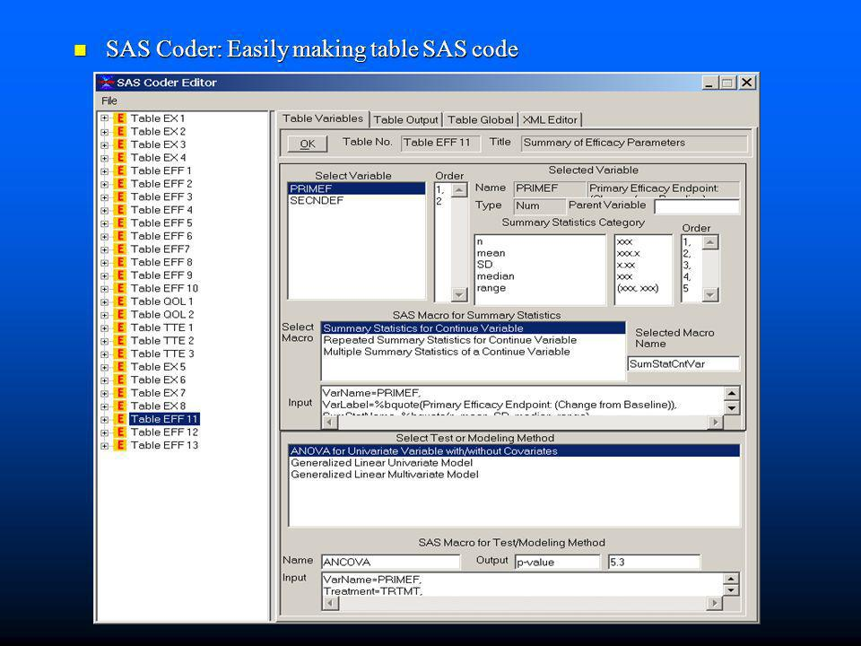 SAS Coder: Easily making table SAS code
