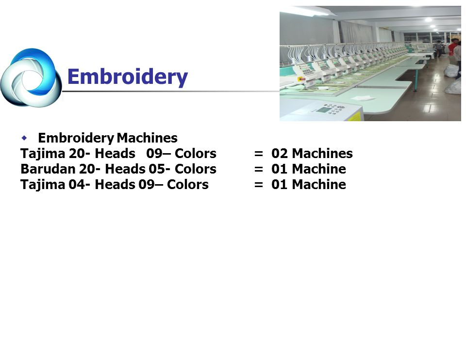 Embroidery Embroidery Machines