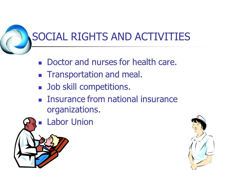 SOCIAL RIGHTS AND ACTIVITIES