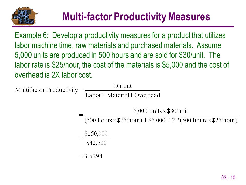 Multi-factor Productivity Measures