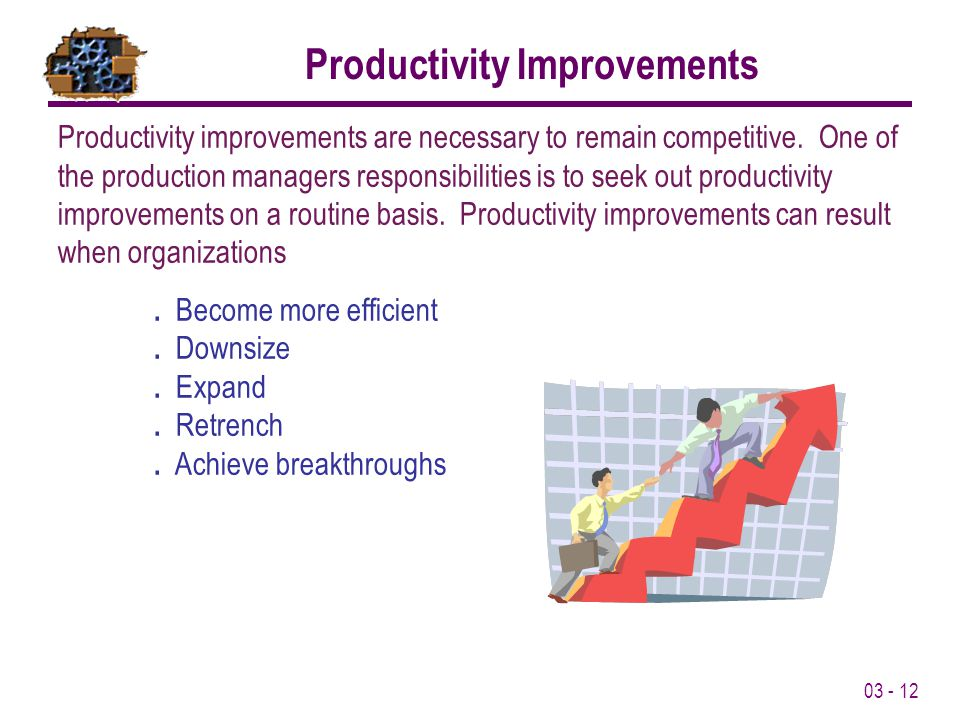 Productivity Improvements