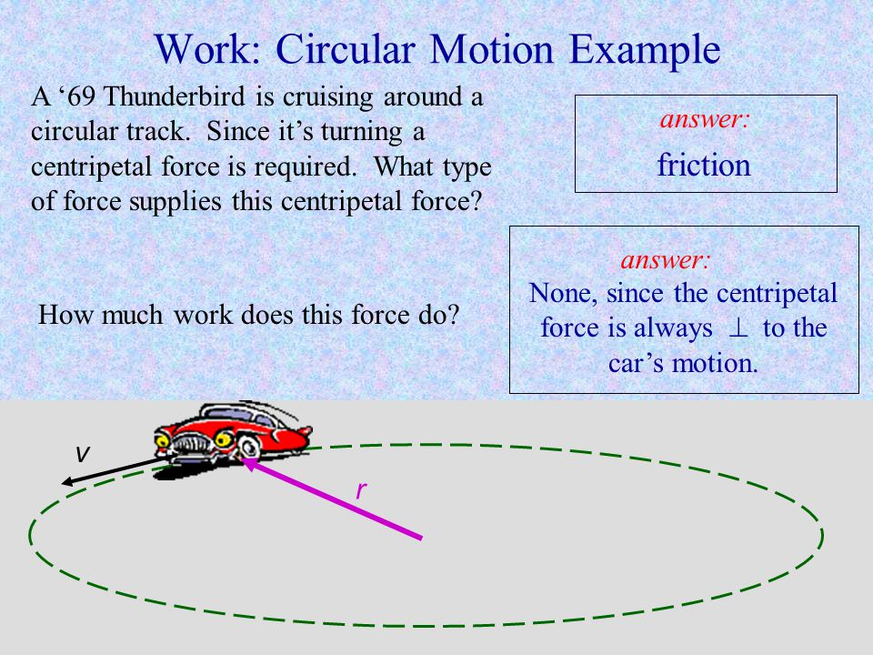 Work: Circular Motion Example