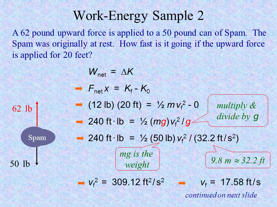 Work-Energy Sample 2