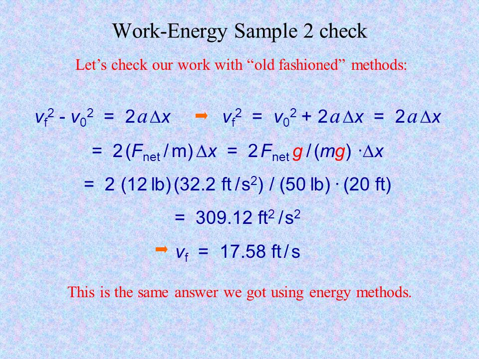 Work-Energy Sample 2 check