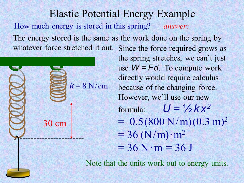 Elastic Potential Energy Example