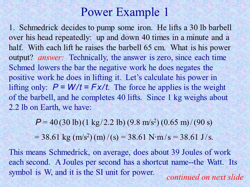 Power Example 1