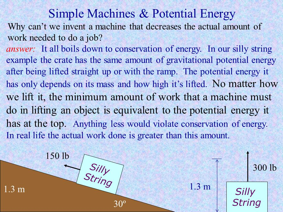 Simple Machines & Potential Energy