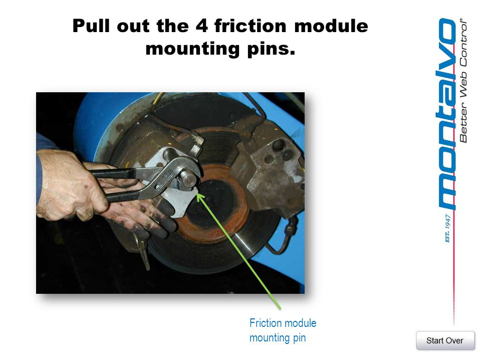 Pull out the 4 friction module mounting pins.