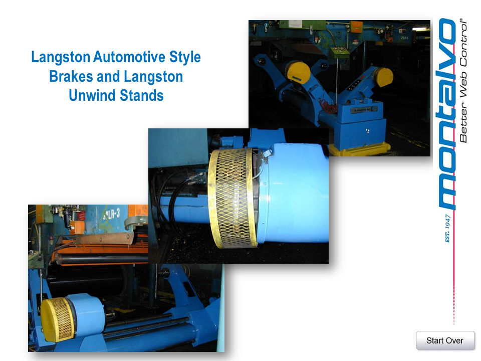 Langston Automotive Style Brakes and Langston Unwind Stands