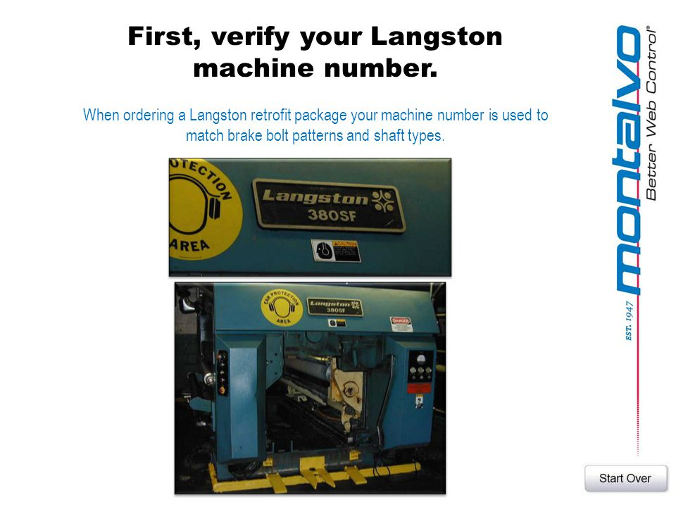 First, verify your Langston machine number.