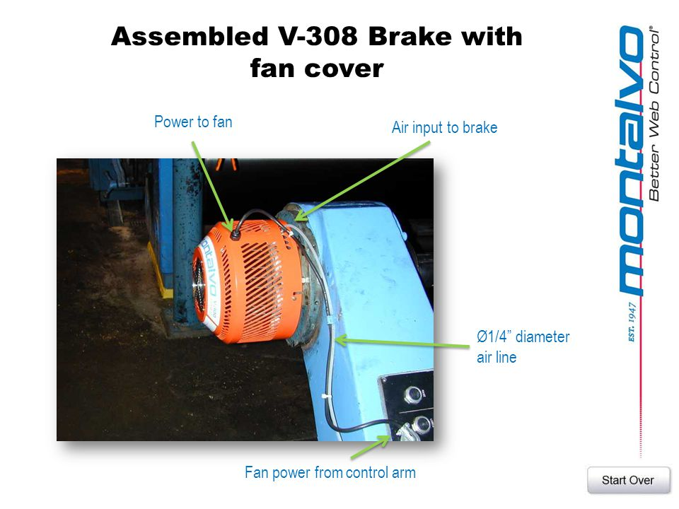 Assembled V-308 Brake with fan cover