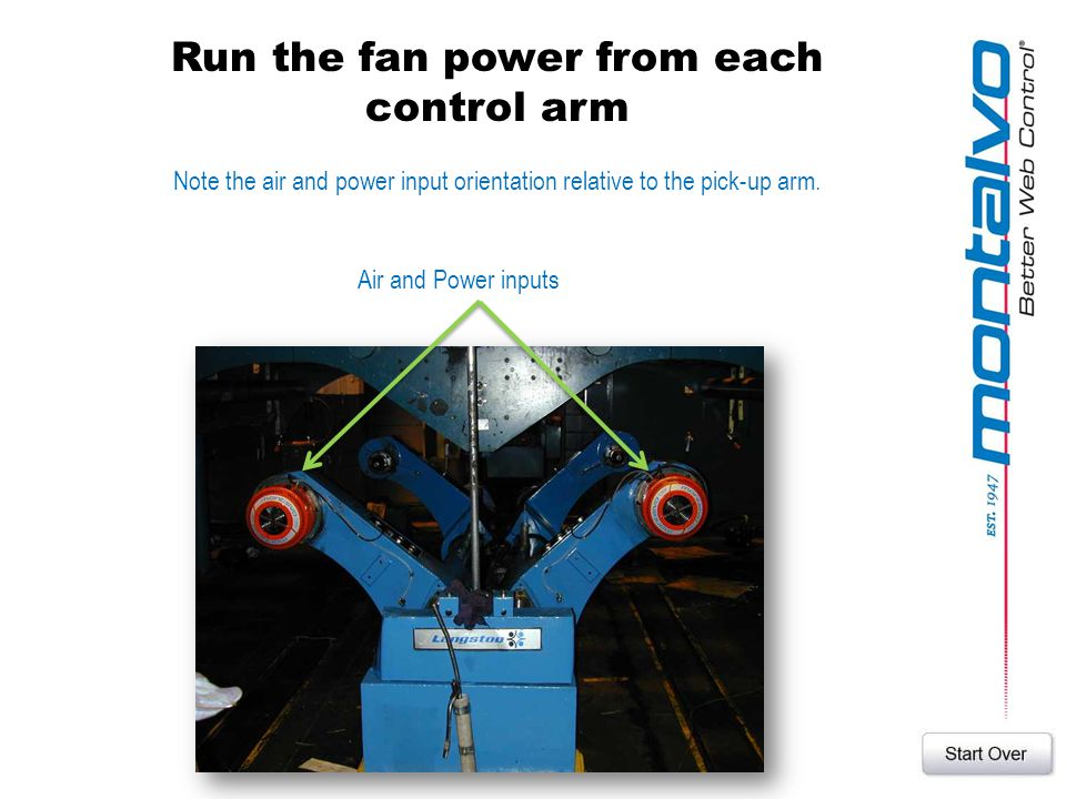 Run the fan power from each control arm