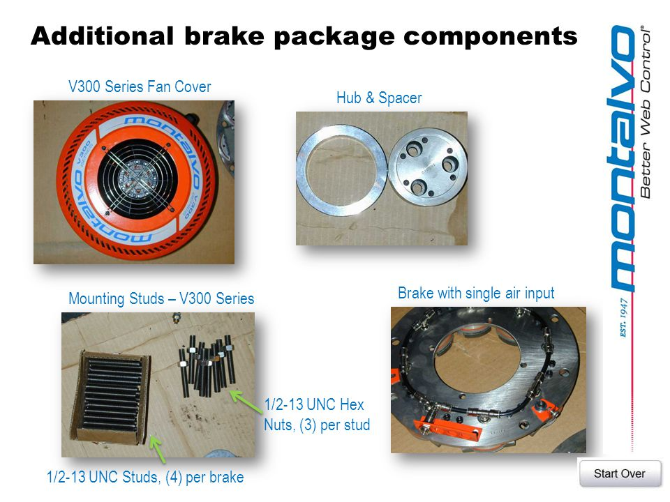 Additional brake package components