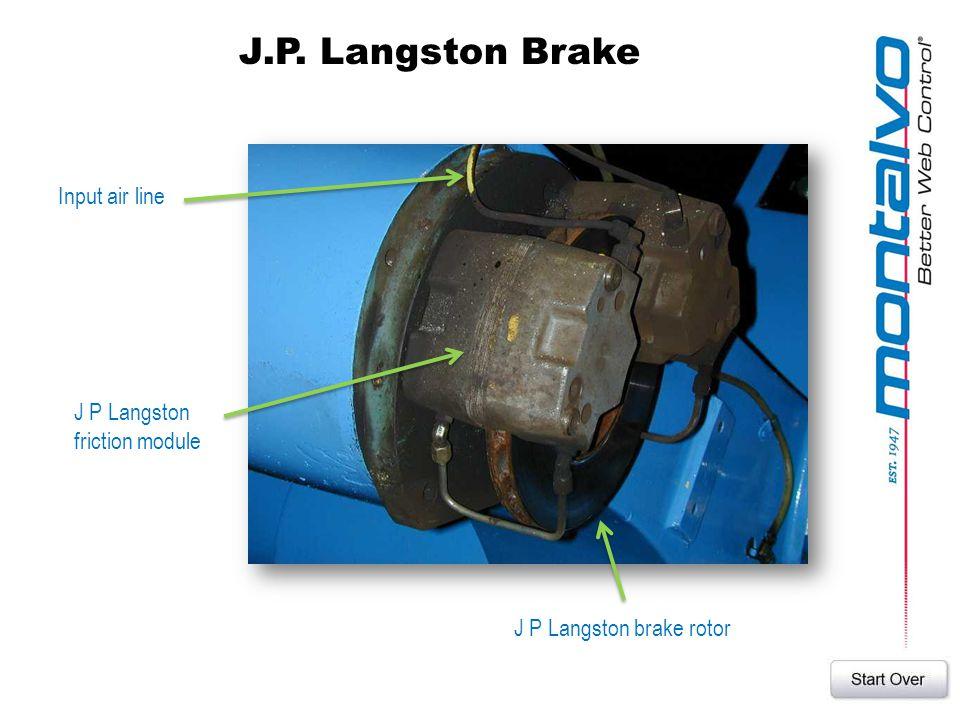 J.P. Langston Brake Input air line J P Langston friction module