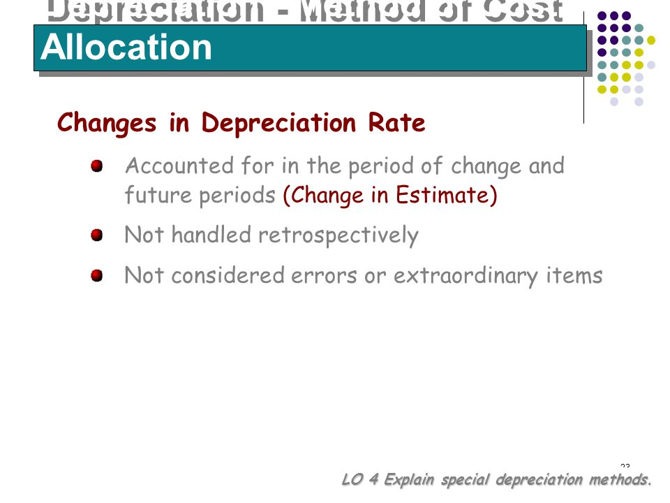 depreciation replacement cost method The quantum of operational funds flow cannot be influenced by the method of depreciation charged depreciation and inflation:  replacement cost method.