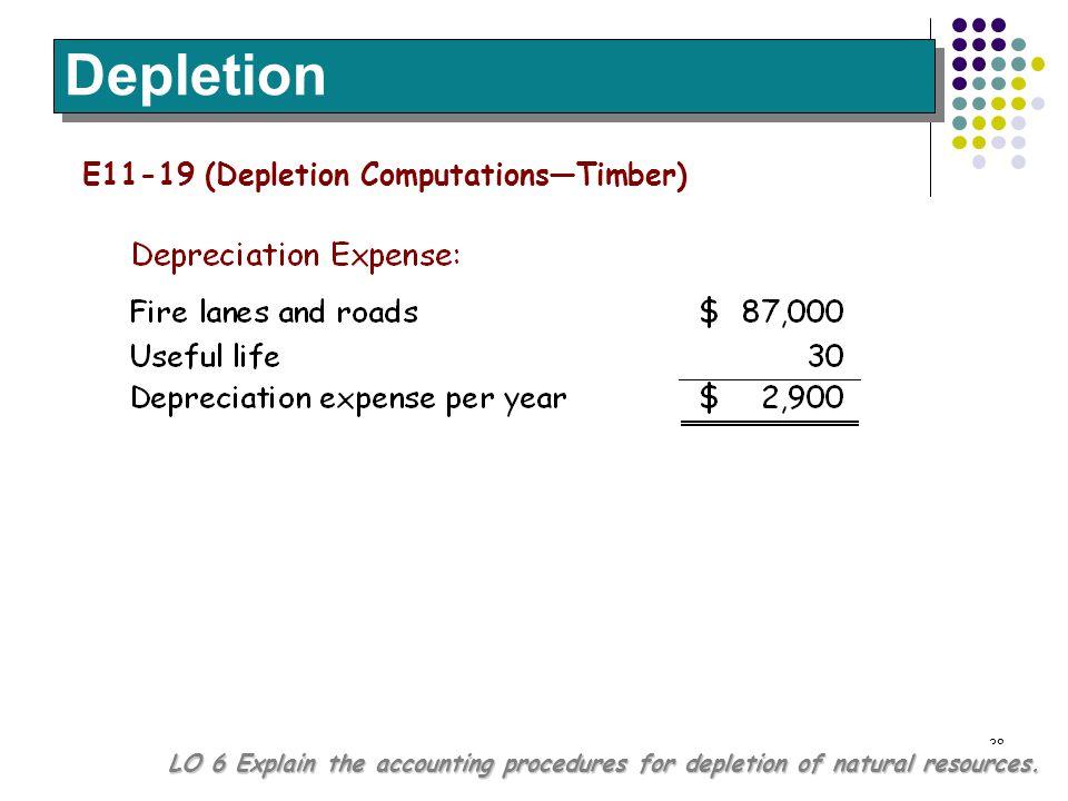Depletion E11-19 (Depletion Computations—Timber)