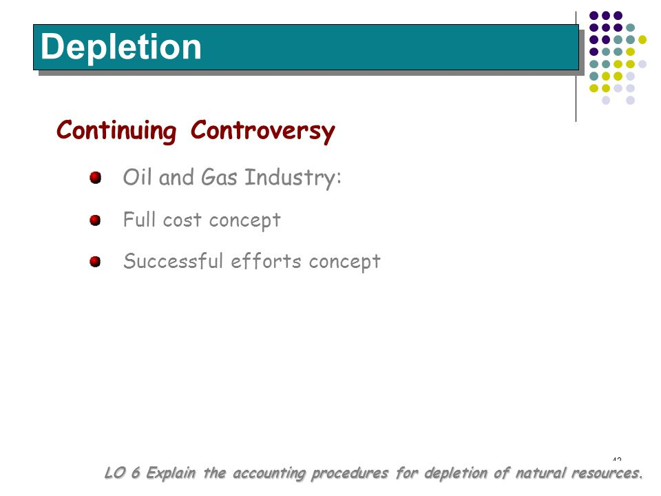 Depletion Continuing Controversy Oil and Gas Industry: