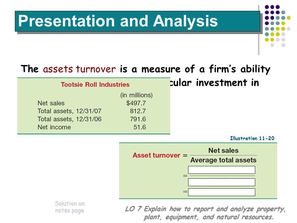 Presentation and Analysis