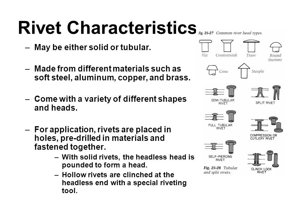 Rivet Characteristics