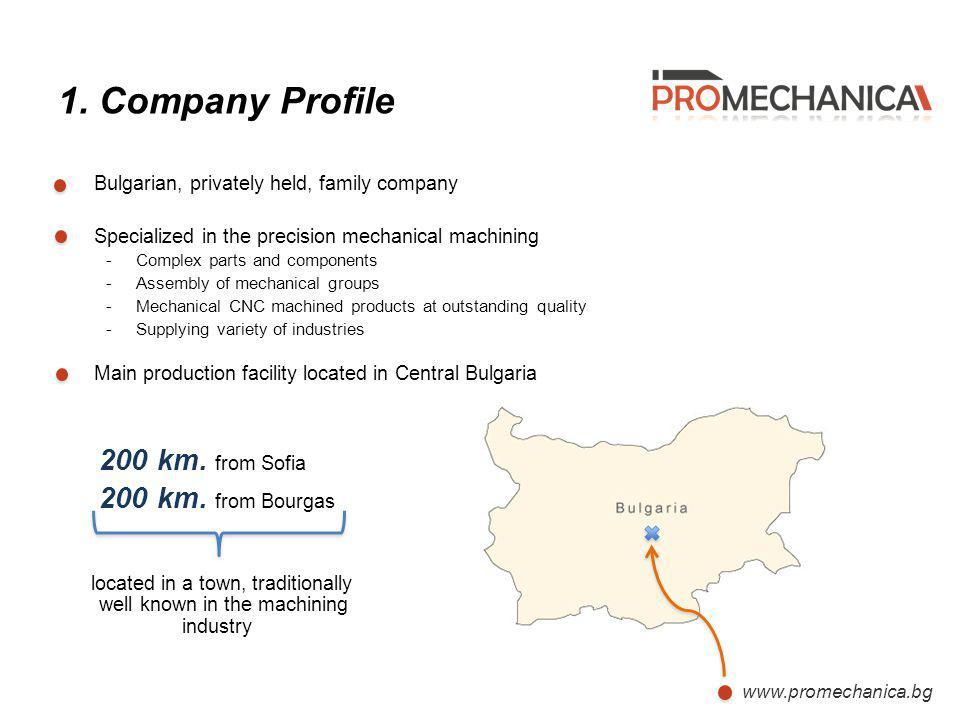 1. Company Profile Bulgarian, privately held, family company