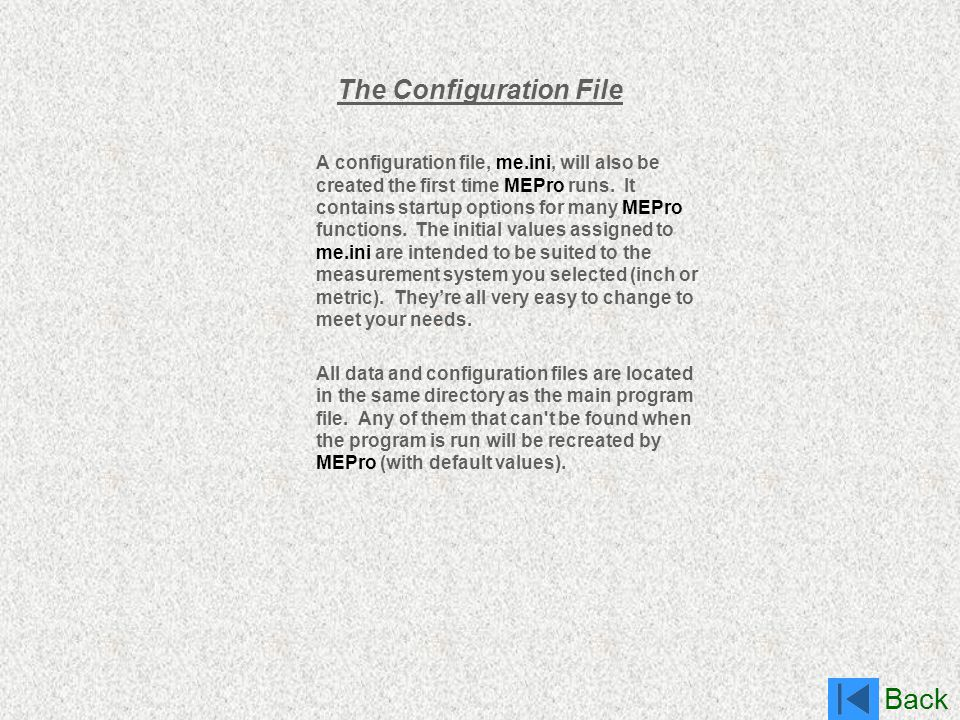 The Configuration File