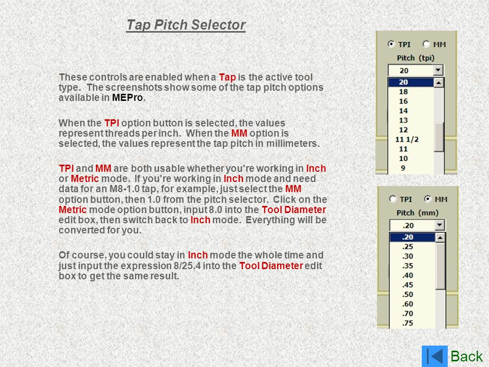 Tap Pitch Selector