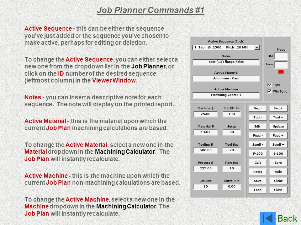 Job Planner Commands #1