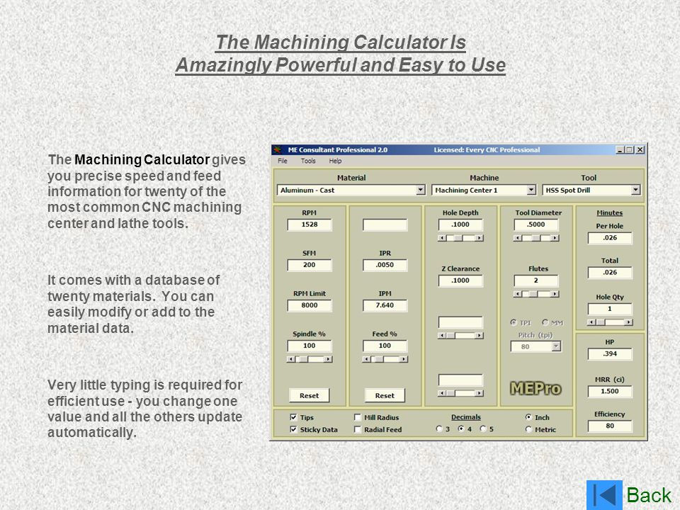 The Machining Calculator Is Amazingly Powerful and Easy to Use