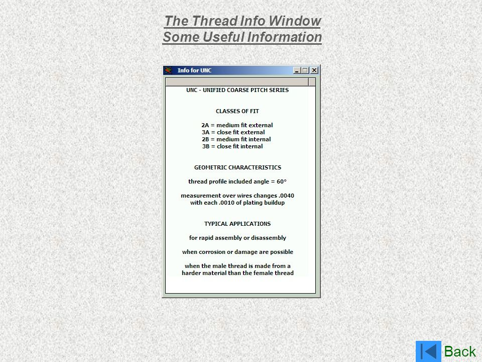 The Thread Info Window Some Useful Information