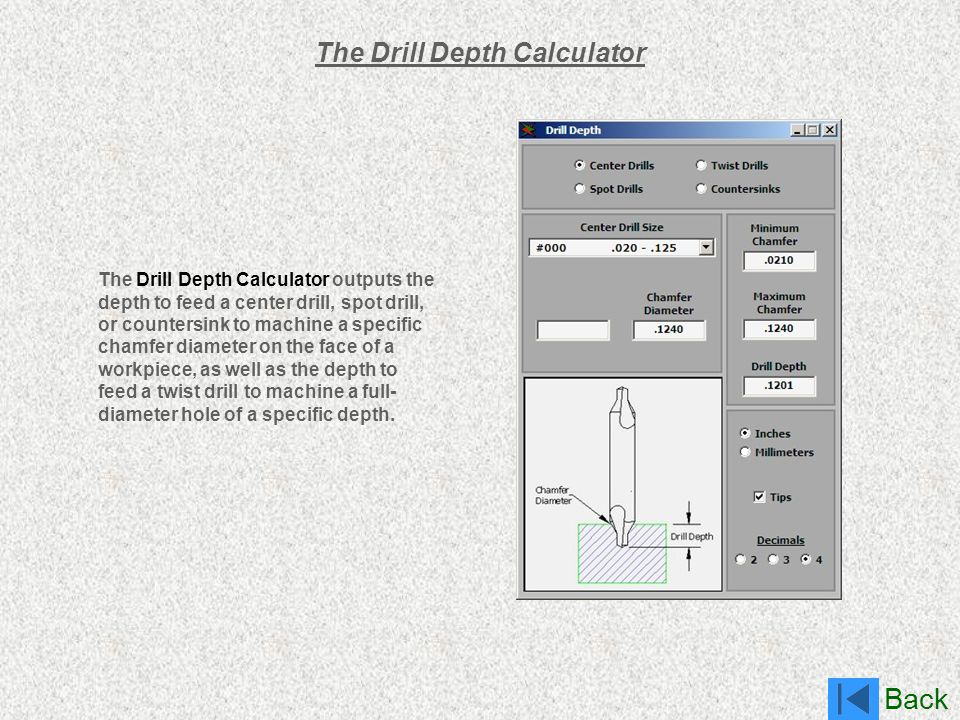 The Drill Depth Calculator
