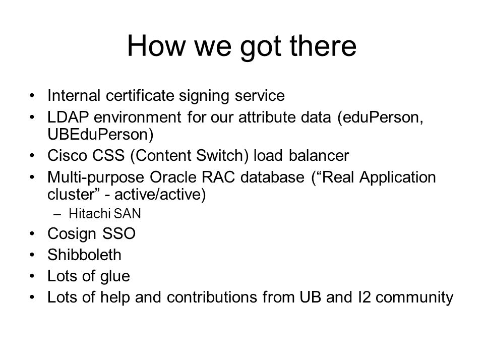 How we got there Internal certificate signing service