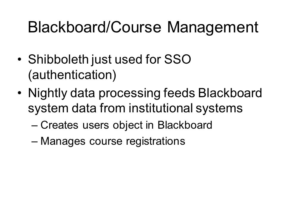 Blackboard/Course Management