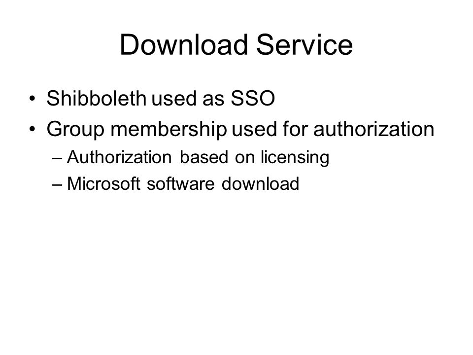 Download Service Shibboleth used as SSO