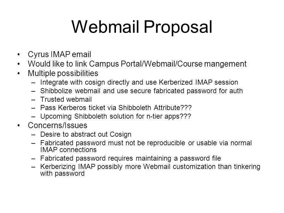 Webmail Proposal Cyrus IMAP email