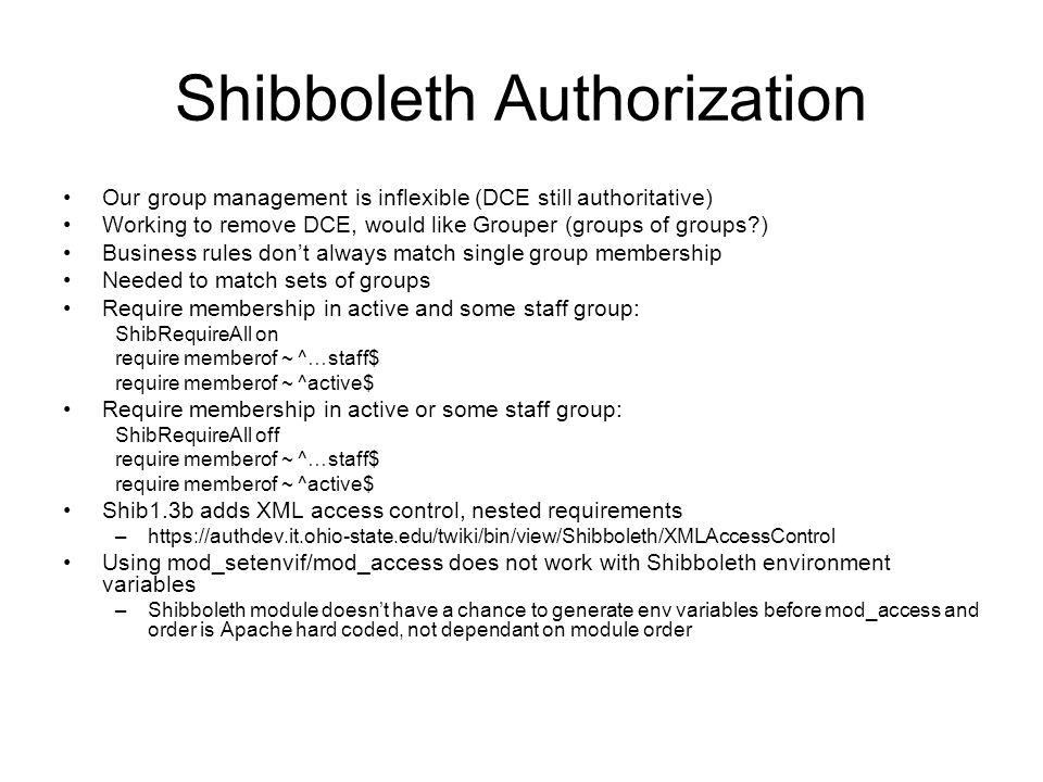 Shibboleth Authorization