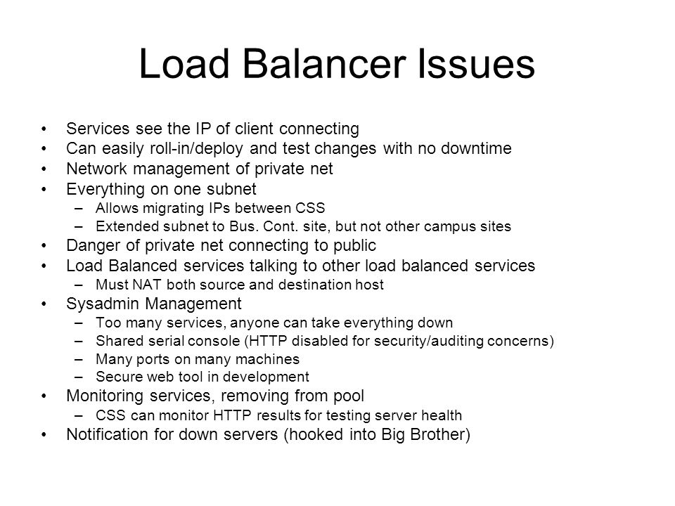 Load Balancer Issues Services see the IP of client connecting