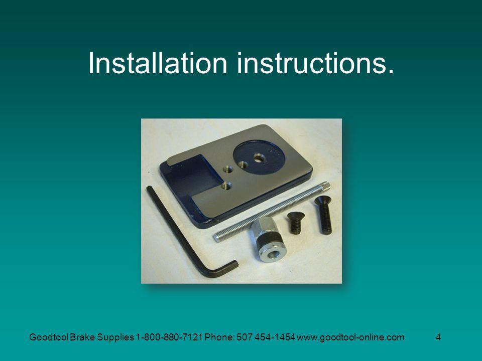 Installation instructions.