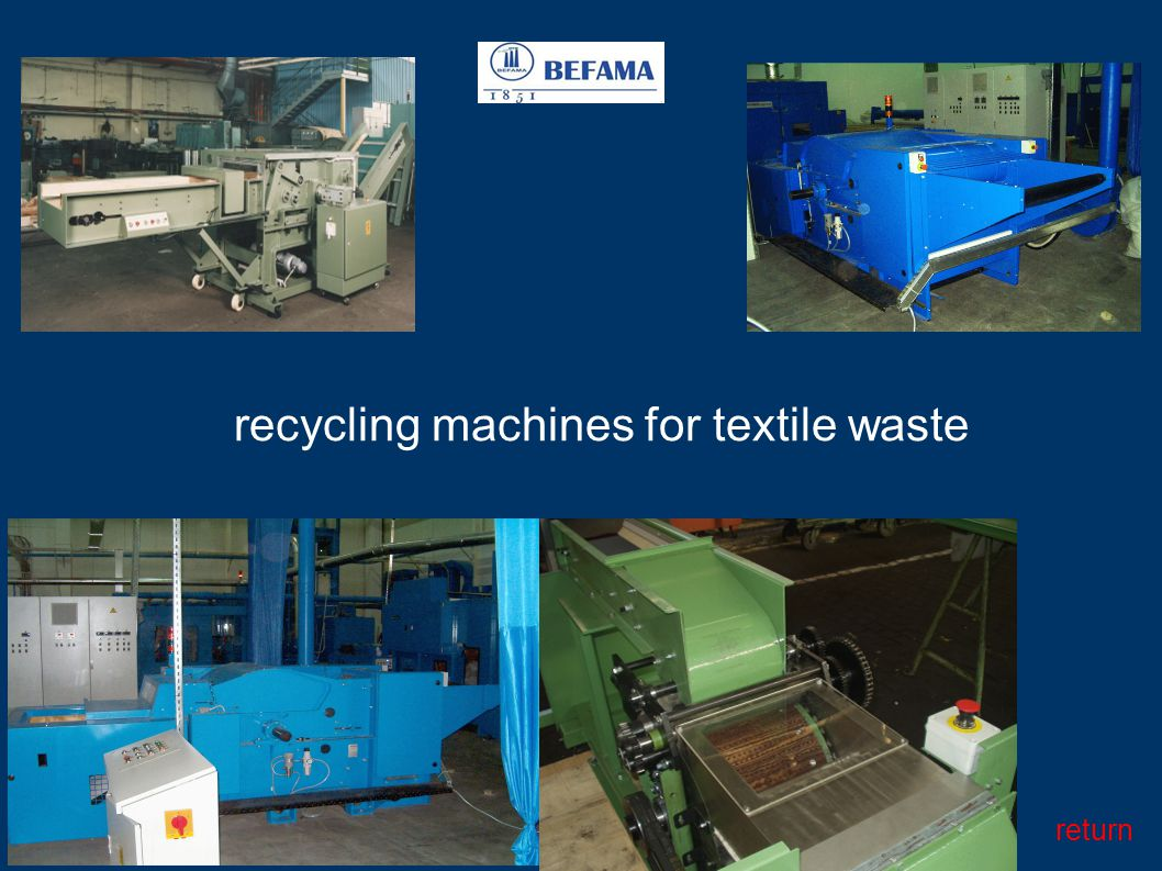 recycling machines for textile waste