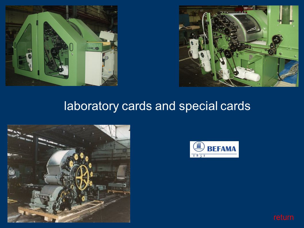 laboratory cards and special cards