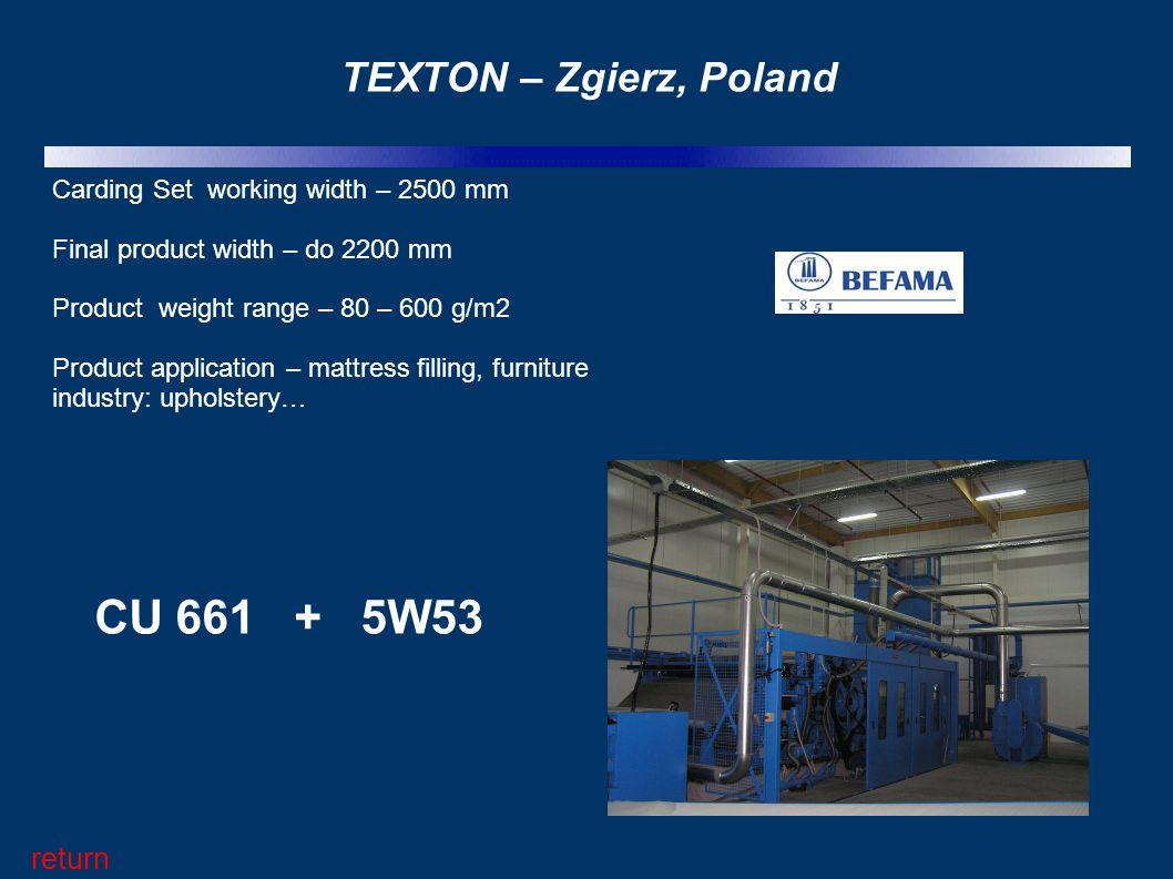 CU 661 + 5W53 TEXTON – Zgierz, Poland return